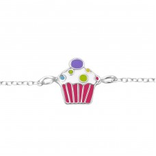 Cupcake - 925 Sterling Silver Bracelets for kids A4S19647