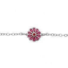 Flower - 925 Sterling Silver Bracelets for kids A4S37990