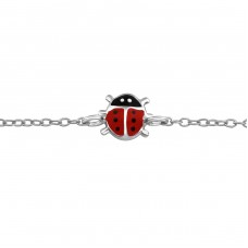 Ladybug - 925 Sterling Silver Bracelets for kids A4S37991