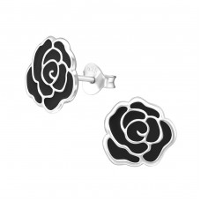 Rose - 925 Sterling Silver Colorful ear studs for kids A4S11742