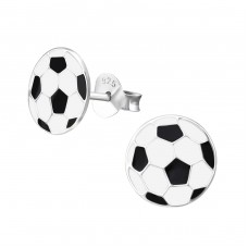 Football - 925 Sterling Silver Colorful ear studs for kids A4S12089