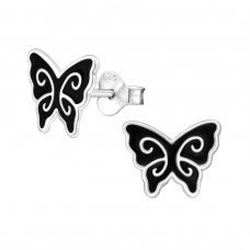 Butterfly - 925 Sterling Silver Colorful ear studs for kids A4S12440