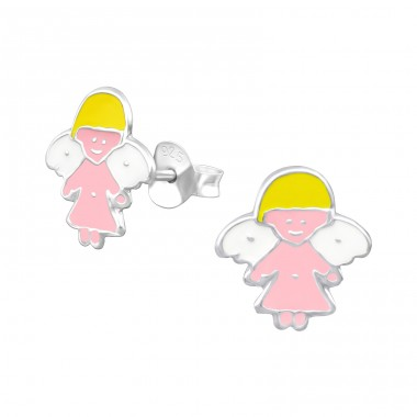 Angel - 925 Sterling Silver Colorful ear studs for kids A4S12753