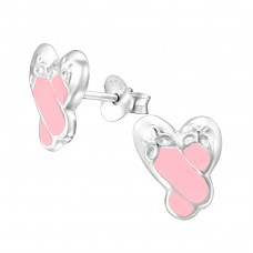 Shoe - 925 Sterling Silver Colorful ear studs for kids A4S12756