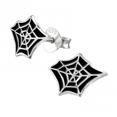 Spider Web - 925 Sterling Silver Colorful ear studs for kids A4S13277