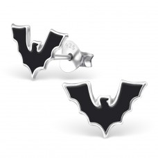 Bat - 925 Sterling Silver Colorful ear studs for kids A4S13280
