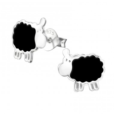Sheep - 925 Sterling Silver Colorful ear studs for kids A4S13292