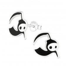 Grim Reaper - 925 Sterling Silver Colorful ear studs for kids A4S13640