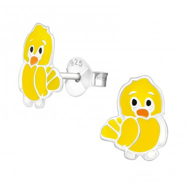 Chick - 925 Sterling Silver Colorful ear studs for kids A4S13730