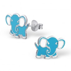Elephant - 925 Sterling Silver Colorful ear studs for kids A4S14067