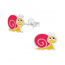 Snail - 925 Sterling Silver Colorful ear studs for kids A4S14151
