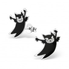 Monster - 925 Sterling Silver Colorful ear studs for kids A4S14182