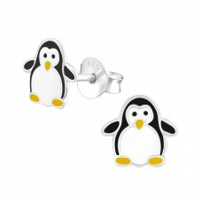 Penguin - 925 Sterling Silver Colorful ear studs for kids A4S17139
