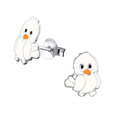 Chick - 925 Sterling Silver Colorful ear studs for kids A4S17253