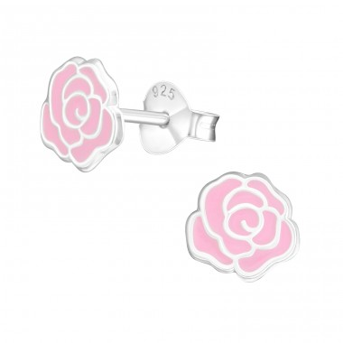 Rose - 925 Sterling Silver Colorful ear studs for kids A4S17352