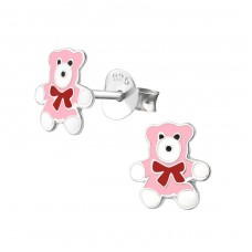 Bear - 925 Sterling Silver Colorful ear studs for kids A4S17805