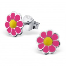 Daisy - 925 Sterling Silver Colorful ear studs for kids A4S18671