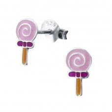 Lollipop - 925 Sterling Silver Colorful ear studs for kids A4S18701