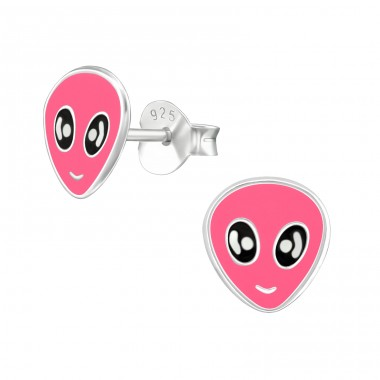 Alien - 925 Sterling Silver Colorful ear studs for kids A4S18857
