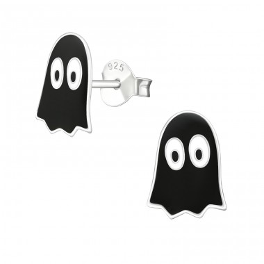 Ghost - 925 Sterling Silver Colorful ear studs for kids A4S18941