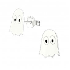 Ghost - 925 Sterling Silver Colorful ear studs for kids A4S18943