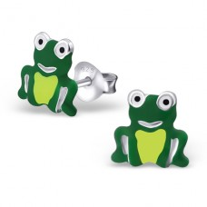 Frog - 925 Sterling Silver Colorful ear studs for kids A4S19085