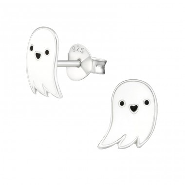 Ghost - 925 Sterling Silver Colorful ear studs for kids A4S19456