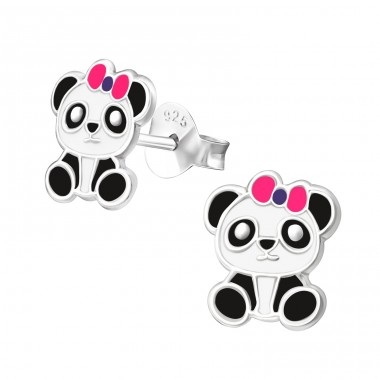 Panda - 925 Sterling Silver Colorful ear studs for kids A4S19638