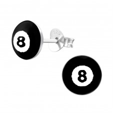 Billiard Ball - 925 Sterling Silver Colorful ear studs for kids A4S19698