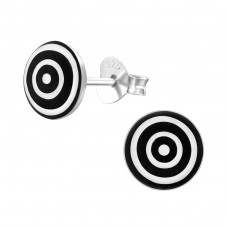 Target Bored - 925 Sterling Silver Colorful ear studs for kids A4S19704