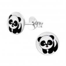 Panda - 925 Sterling Silver Colorful ear studs for kids A4S19715