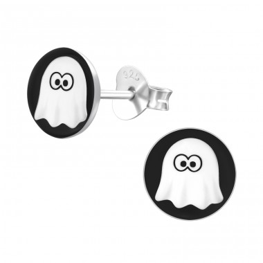 Ghost - 925 Sterling Silver Colorful ear studs for kids A4S19733