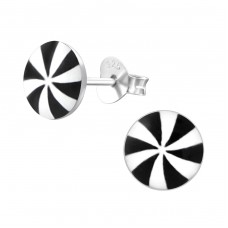 Propeller - 925 Sterling Silver Colorful ear studs for kids A4S19741