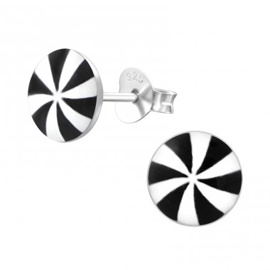 Propeller - 925 Sterling Silver Ear studs with enamel colors A4S19741