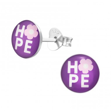 Hope - 925 Sterling Silver Ear studs with enamel colors A4S19763