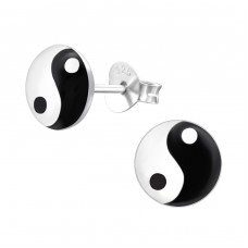 Yin-yang - 925 Sterling Silver Colorful Earrings For Kids A4S19778