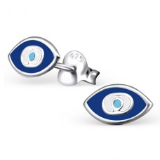 Eye - 925 Sterling Silver Colorful ear studs for kids A4S21005