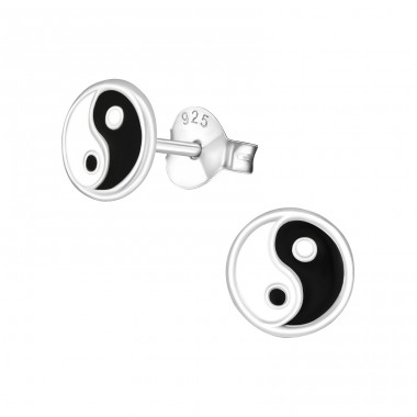 Yin Yang - 925 Sterling Silver Colorful ear studs for kids A4S21533