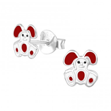 Rabbit - 925 Sterling Silver Colorful ear studs for kids A4S21712