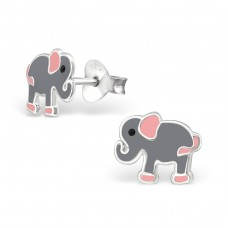 Elephant - 925 Sterling Silver Colorful ear studs for kids A4S21908