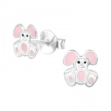 Rabbit - 925 Sterling Silver Colorful ear studs for kids A4S21911