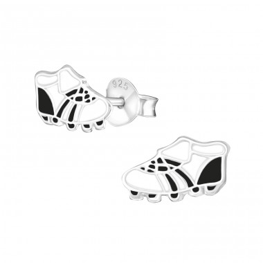 Football shoes - 925 Sterling Silver Colorful Earrings For Kids A4S21957
