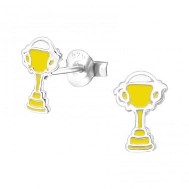 Trophy - 925 Sterling Silver Colorful ear studs for kids A4S22225