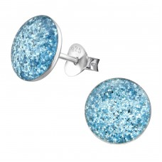 Round - 925 Sterling Silver Colorful ear studs for kids A4S22929