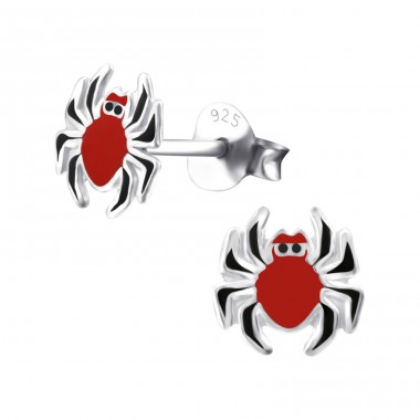 Spider - 925 Sterling Silver Colorful ear studs for kids A4S23870