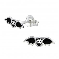 Bat - 925 Sterling Silver Colorful ear studs for kids A4S24317