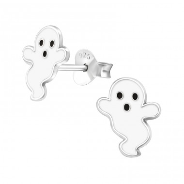Ghost - 925 Sterling Silver Colorful ear studs for kids A4S24320