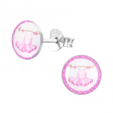 Dress - 925 Sterling Silver Colorful ear studs for kids A4S24458