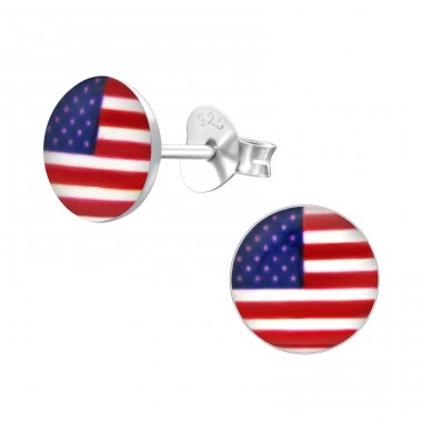 USA - 925 Sterling Silver Colorful Earrings For Kids A4S24461