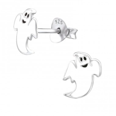 Ghost - 925 Sterling Silver Colorful ear studs for kids A4S24547